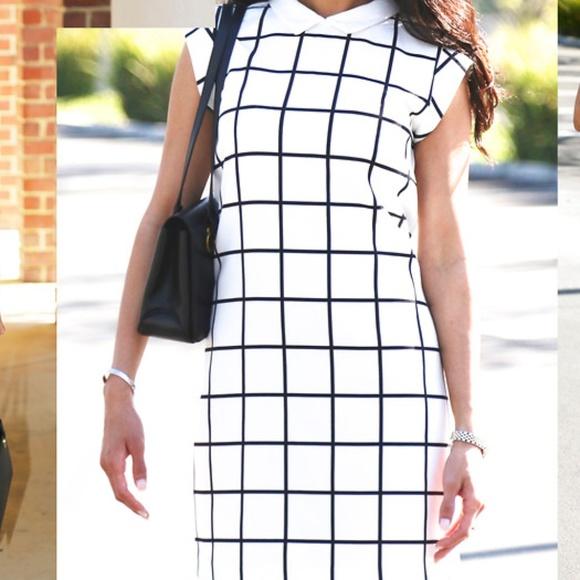 ZARA Dresses & Skirts - ZARA TRAFALUC PLAID SHIFT DRESS SIZE MEDIUM